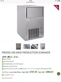 Prodis c60 54kg commercial ice machine