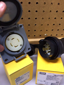 NEW Industrial Plug and Receptacle 30 Amp 125/250V