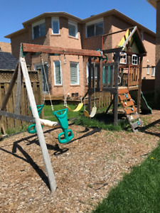 Outdoor Playset $100 (Buyer must disassemble & Pick-up)