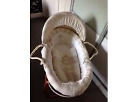 Mamas and Papas Once Upon a Time Moses Basket and Rocking Stand