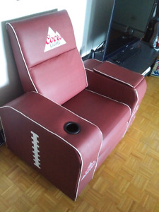 Coors Light Football Recliner Chair with Cooler - Man Cave!