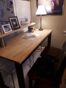 Counter/Work Table. Rocking Chair/ Foot Stool. Side Table