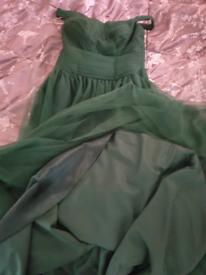 Green prom dress size 8