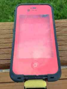 Red iPhone 4/4s LifeProof Case