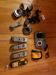 Portable phone set. Indoor/outdoor. Rarely used.