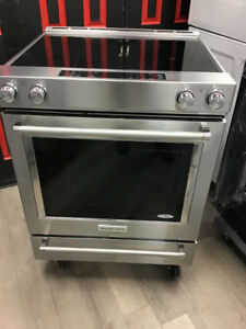 "30"" KITCHEN AID CONVECTION STAINLESS S NEW MODEL STOVE"