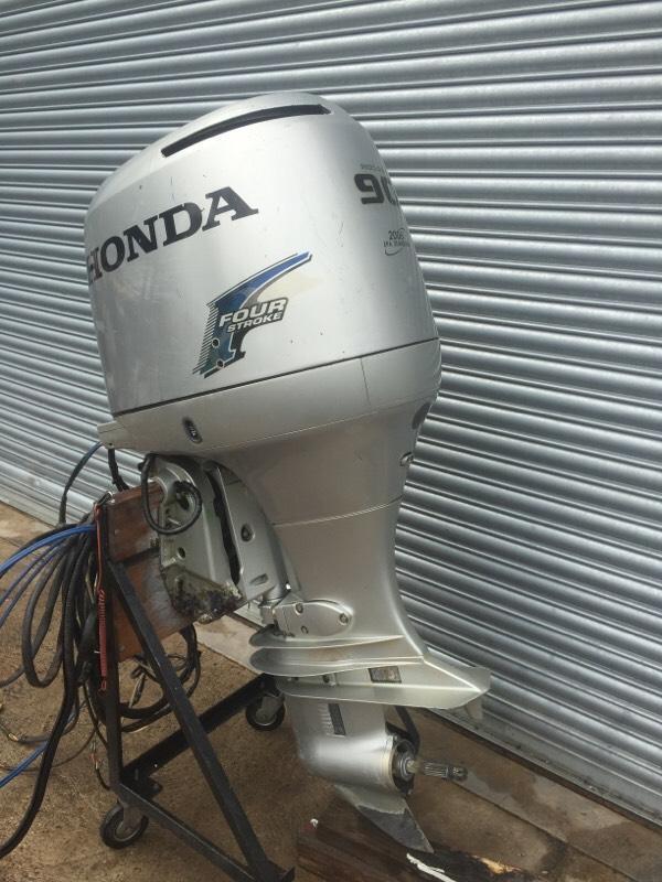 Honda 90hp four stroke 2002 outboard boat engine in for Honda 4 stroke outboard motors