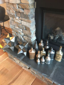 Tinted Bottles and Spiked Accent Pieces