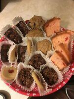 Homemade Holiday treat trays/ baking