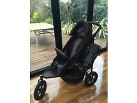 Phil and Ted's Sport double pushchair - raincover, black nap cover, bumper bar