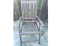 Wooden recliner chairs