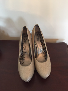 Womens Gold Shoes