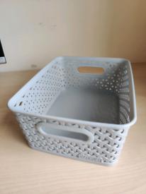 Plastic Weave Rattan Storage Basket Box