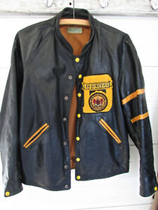 VINTAGE LEATHER DALHOUSIE UNIVERSITY ENGINEERING JACKET (1980)