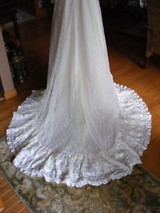 Lace covered Wedding Gown