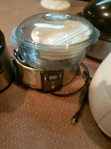 fryer steamer and electric counter oven