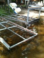 two stainless steel dock sections