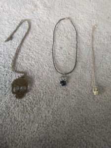 Costume jewellry necklaces. $10 for all 3.