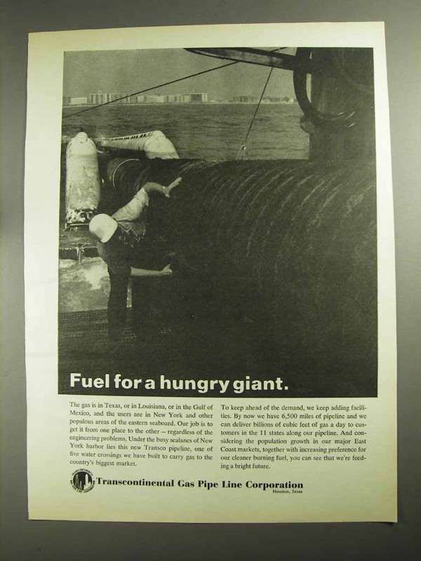 1968 Transcontinental Gas Pipe Line Corporation Ad
