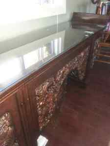 Exotic dining table 4 chairs/Alter Table imported from China Peterborough Peterborough Area image 9