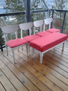 Shabby-chic Chairs and Bench
