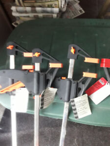 (5) Quick Release Wood Clamps 36'' Long **Brand New**