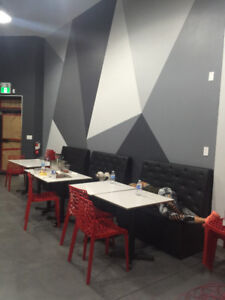 Restaraunt contents for sale! Modern Tables,chairs, pizza oven..