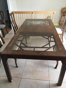 TABLE À MANGER - ANNÉES 1950 - 2 RALLONGES