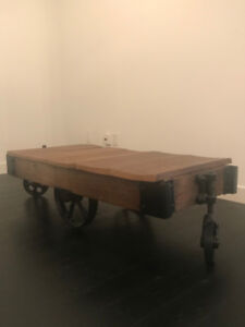 Vintage Industrial Rustic Wagon Coffee Table