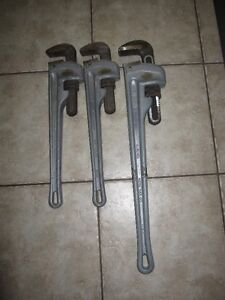 Pipe Wrenches (Ridgid Aluminum) for sale