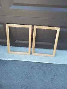 Set of 2 wooden frame decorative accent Brand new