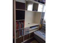 ikea expedit kallax / shelving unit with lots of extras inserts