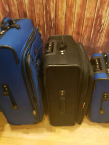 Delsey Paris Three piece luggage set.
