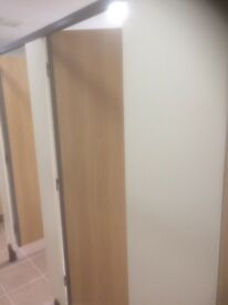 Toilet partitions/cubicles