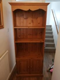Solid wood shelving unit