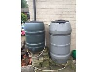 2x Water Butts. FREE to anyone who wants to collect.