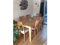 Dining Table & Chairs (Solid Oak)