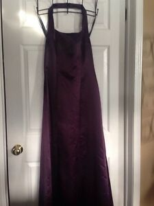 Randi May Plum Halter Long Dress