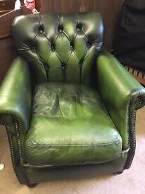 Thomas Lloyd green chesterfield armchair