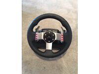 Logitech G27 steering wheel, pedals and gear shifter PC PS3