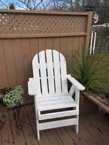Newly built outdoor chairs