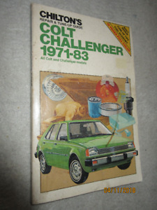 1971 to 1983 Dodge Colt & Challenger  Repair & Tune up guide ++