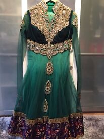 Asian outfit in sea green