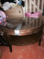 """1950's coffee table. 29"""" wide. 16 """" high"""