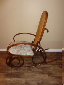 Very Confortble Antique Rocking Chair made of Solid Wood.  the C London Ontario image 2