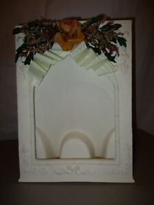 White Plaster photo frame