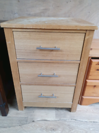 solid bedside drawers for upcycle