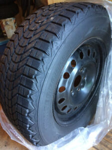 "17"" Snow Tires on Rims - ready to go  $400"