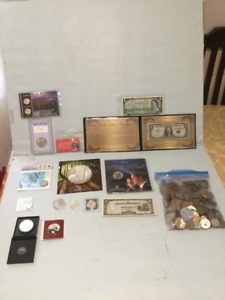 Canadian, US & World Coins Lot - $150 (Firm)