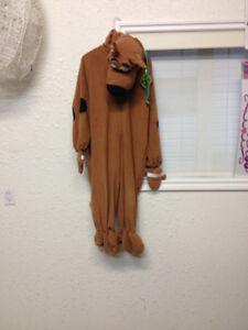 Full Length Scooby Doo Halloween Costume. Size Medium